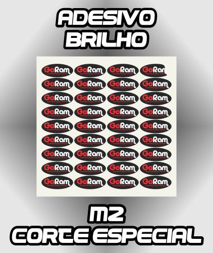 Adesivo Brilho Impresso +Corte - Melhor Custo