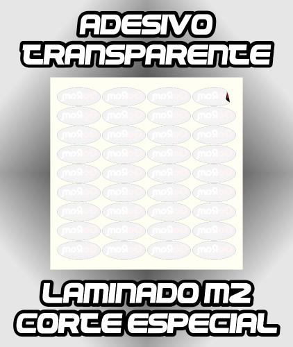 Adesivo Transparente Impresso +Laminação+Corte - Melhor Custo